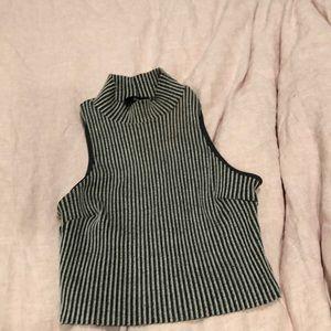 Bodycon pinstriped gray set